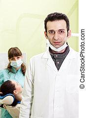 Portrait of a man dentist