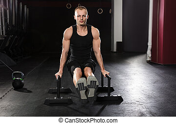 Portrait Of A Man Doing Push-up Exercise