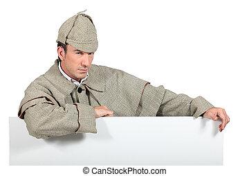 portrait of a man dressed as Sherlock Holmes