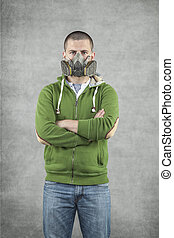 portrait of a man in a mask