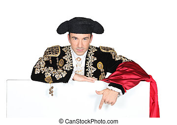 portrait of a man in bullfighter costume