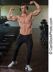 Portrait Of A Man In Modern Gym