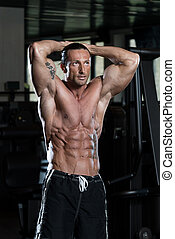 Portrait Of A Man In Modern Gym