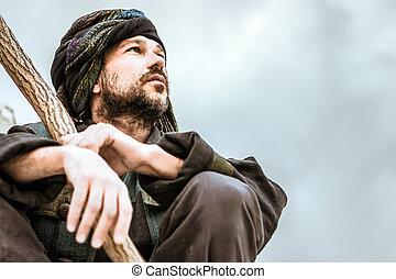 Portrait of a man in turban