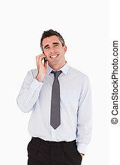 Portrait of a man making a phone call