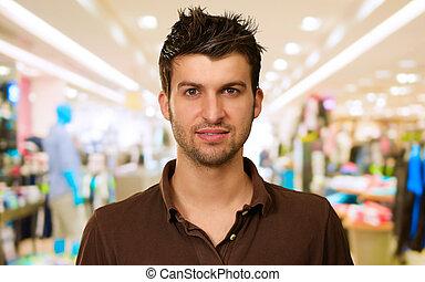 Portrait Of A Man On Shop