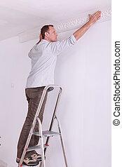 portrait of a man on stepladder