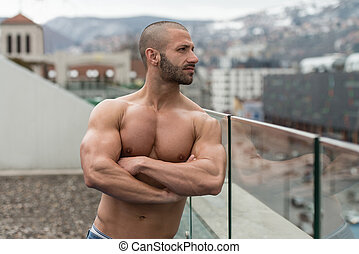 Portrait Of A Man Posing Outdoors