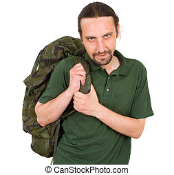 portrait of a man with backpack