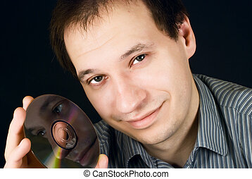 portrait of a man with CD