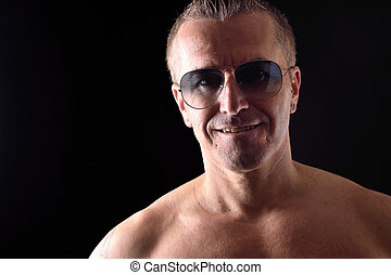 portrait of a man with sunglasses