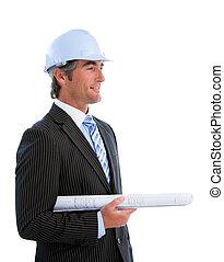 Portrait of a mature male architect