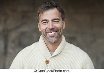Portrait Of A Mature Man Smiling Outside