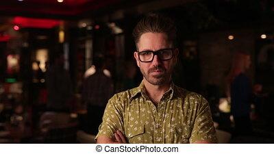 Portrait of a Mature Man - Video portrait of a mid adult man...