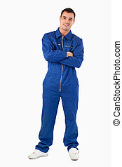 Portrait of a mechanic with the arms crossed