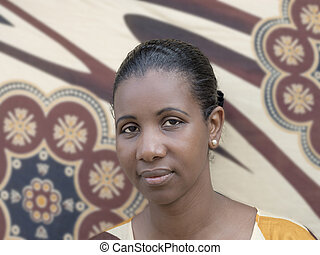 Portrait of a mid-adult woman - Portrait of an Afro beauty...