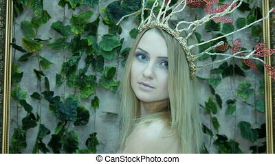 Portrait of a model in the form of Elvish princess -...