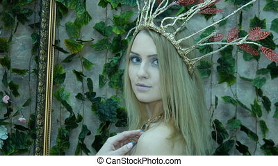 Portrait of a model in the form of Elvish princess