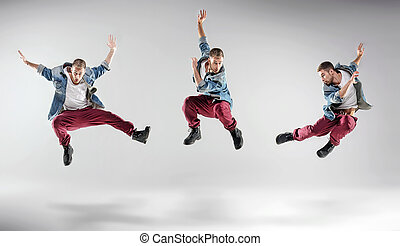 Portrait of a multiple dancing guy
