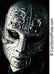 iron mask - Portrait of a mysterious man in iron mask. ...