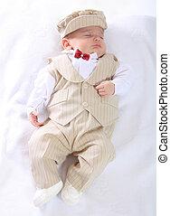 Portrait of a newborn baby boy