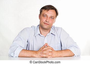 Portrait of a nice businessman
