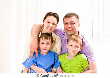 nice family in the room