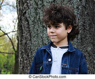 Portrait of a nice looking boy