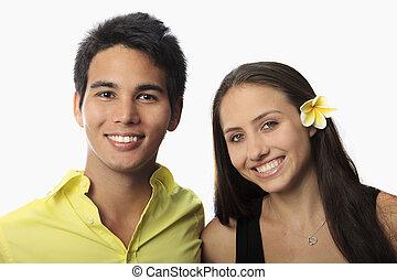 portrait of a pacific island couple