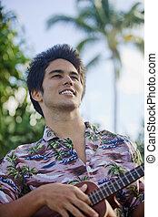 portrait of a pacific island man