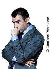 Portrait of a pensive worried businessman
