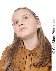 portrait of a pensive young girl