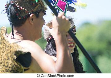 Portrait of a Peruvian Tribal Couple