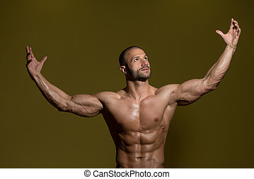 Portrait Of A Physically Fit Young Man