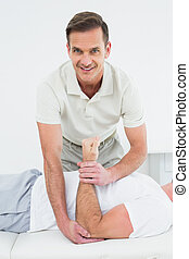 Portrait of a physiotherapist stret