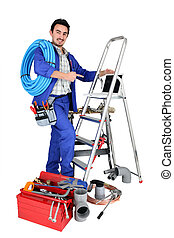portrait of a plumber