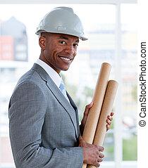 Portrait of a positive male architect