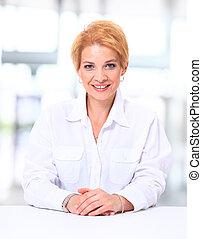 Portrait of a pretty business woman
