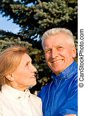 old couple at nature