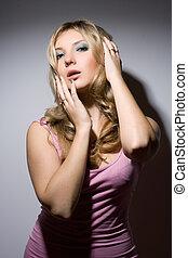 pretty sensual young blonde