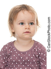 Portrait of a pretty toddler
