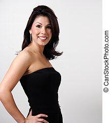 Portrait of a Pretty woman in Black
