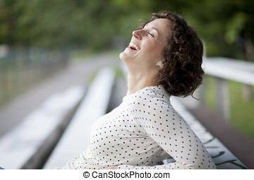 Portrait Of A Pretty Woman Laughing