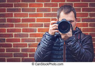 Portrait of a professional photographer