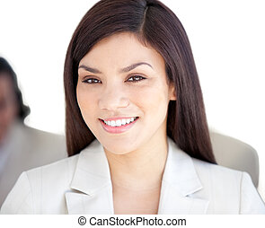 Portrait of a radiant businesswoman