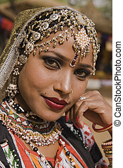 Portrait of a Rajasthani Dancer - Portrait of a beautiful...
