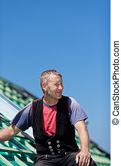 Portrait of a roofer