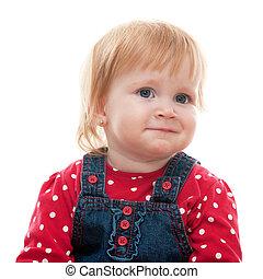 Portrait of a sad little girl