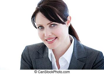 Portrait of a self-assured businesswoman standing