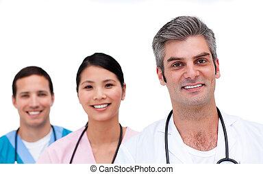 Portrait of a self-assured medical team